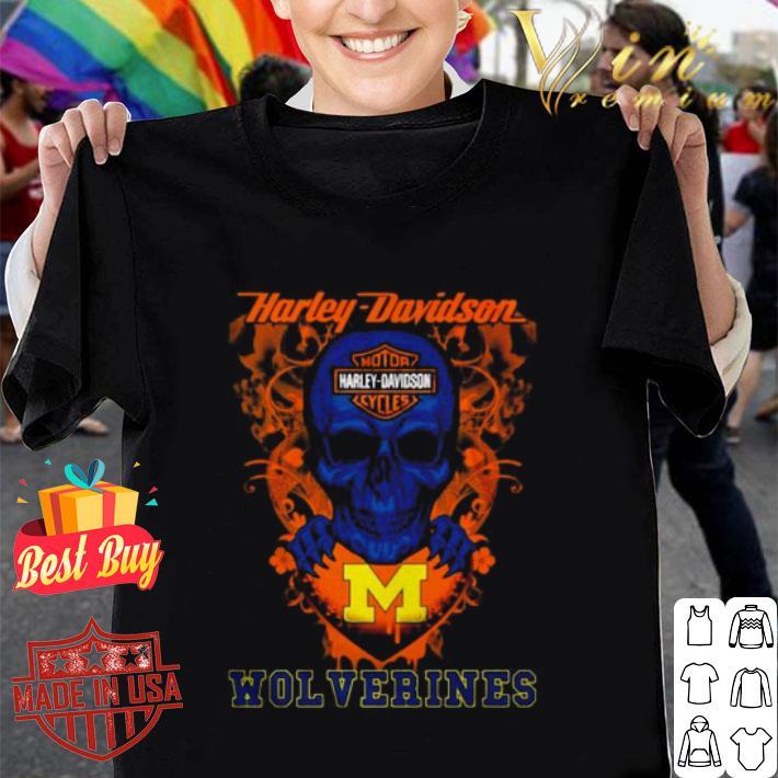 Skull Motor Harley-Davidson Cycles Michigan Wolverines shirt