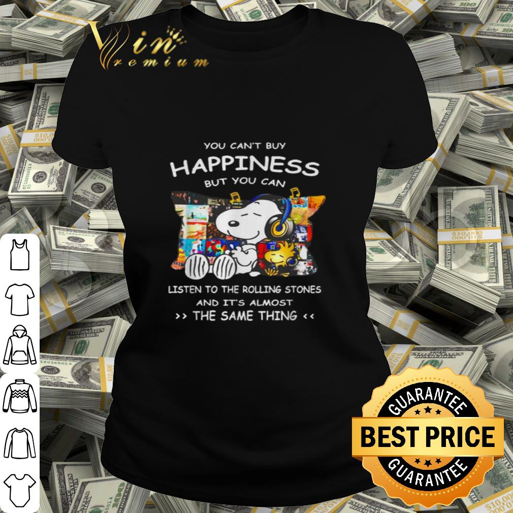 - Snoopy You can't buy happiness but you can listen to Queen shirt