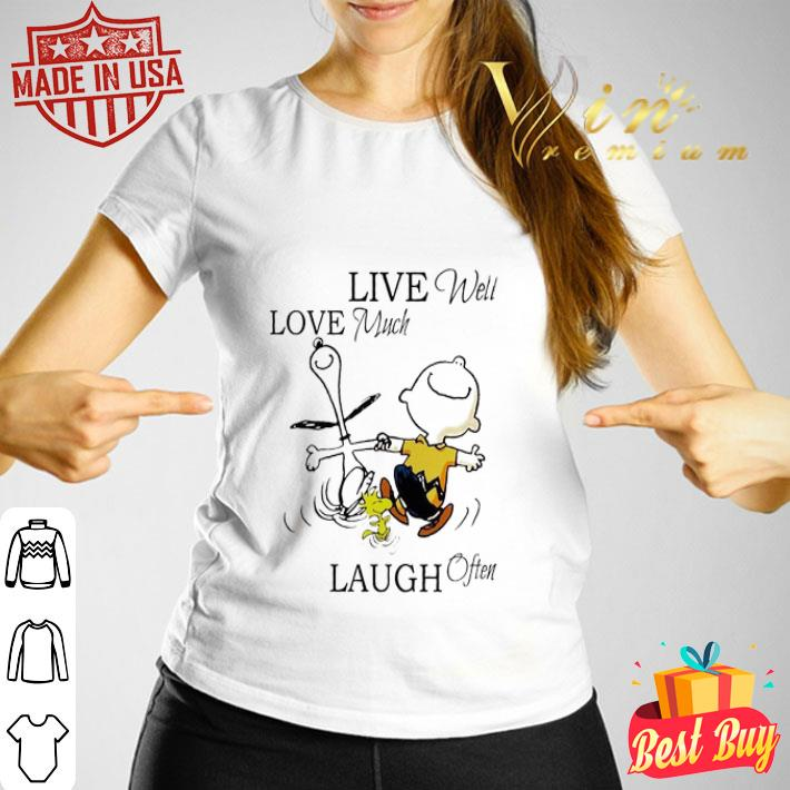 Snoopy and Charlie Brown live well love much laugh often shirt