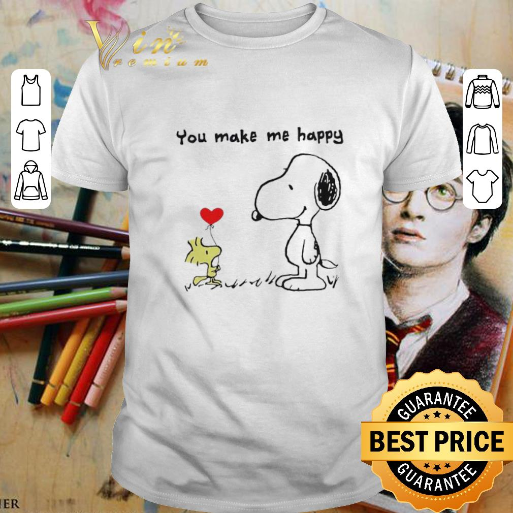 - Snoopy and Woodstock you make me happy shirt