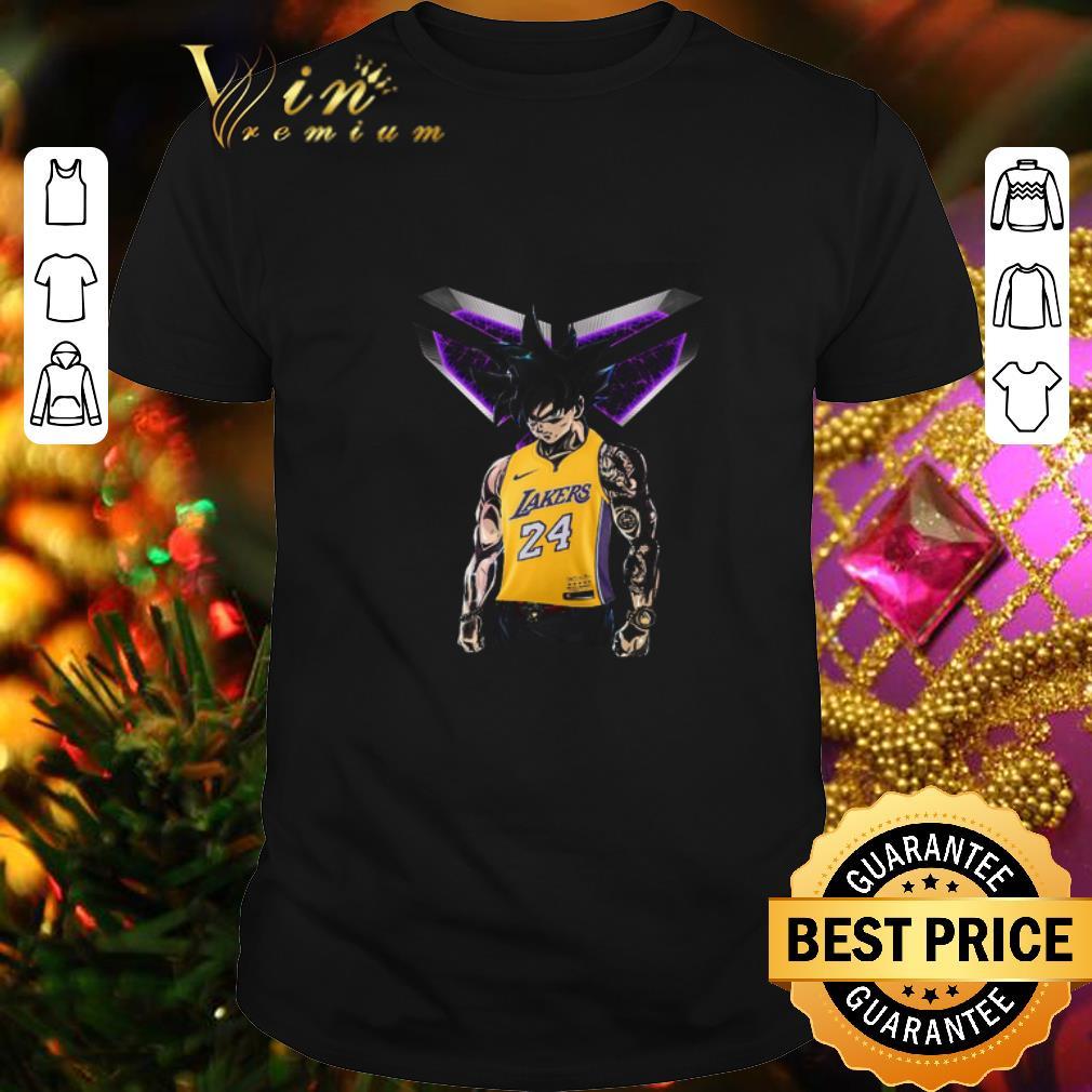 - Son Goku mashup Kobe Bryant Logo Los Angeles Lakers 24 shirt