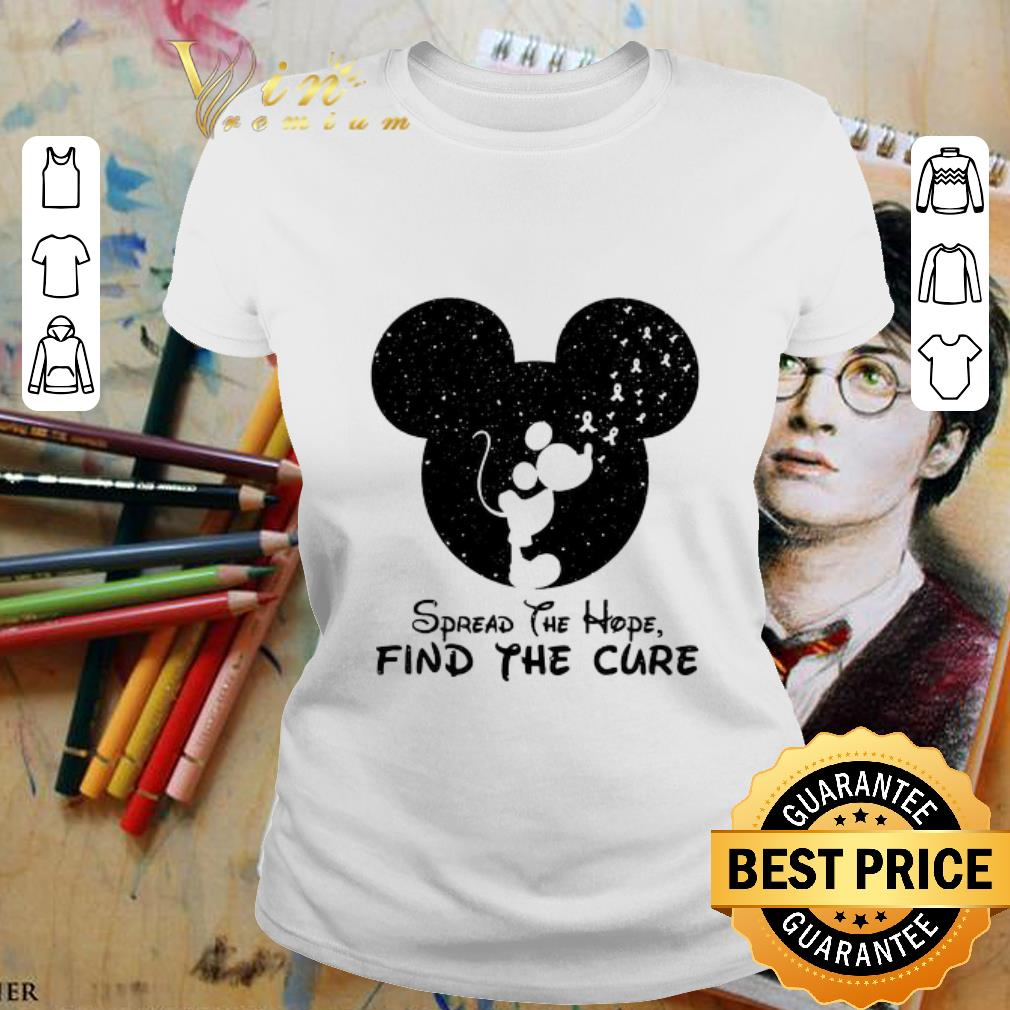 - Spread The Hope Find The Cure Breast Cancer Awareness Mickey Mouse shirt