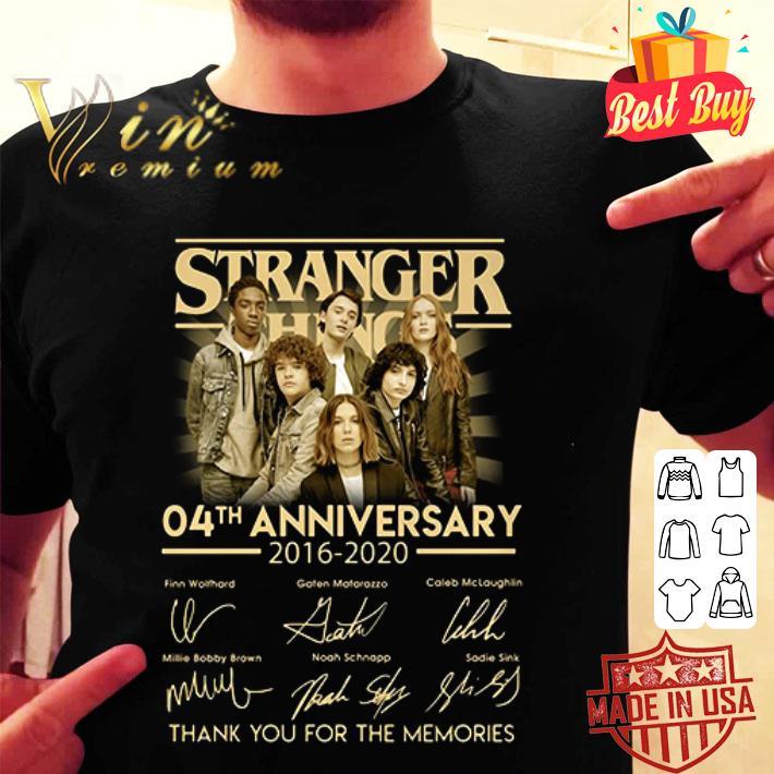 Stranger Things 04th anniversary 2016 2020 signatures shirt