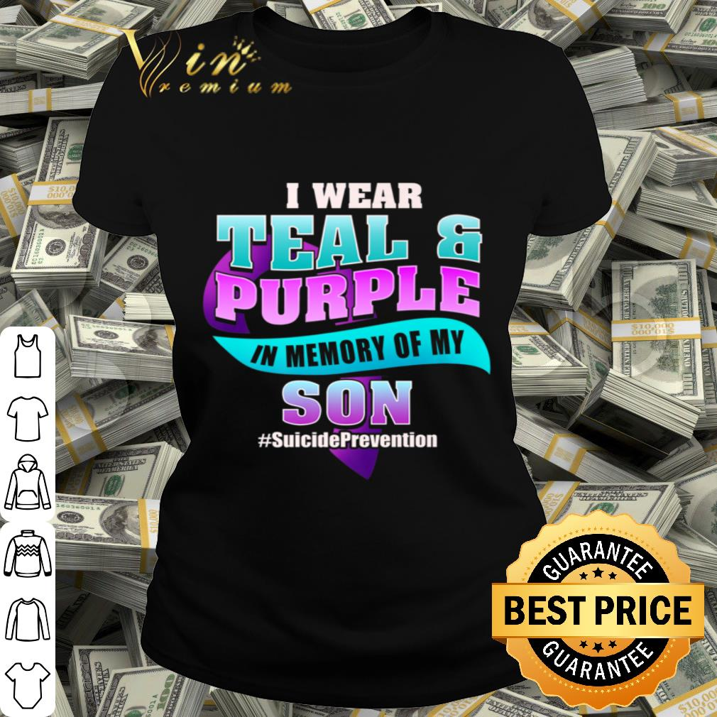 Suicide Memory of Son Teal Purple Ribbon shirt