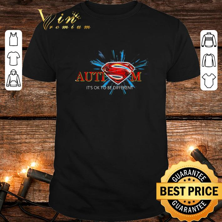 - Superman Logo Autism it's ok to be different shirt