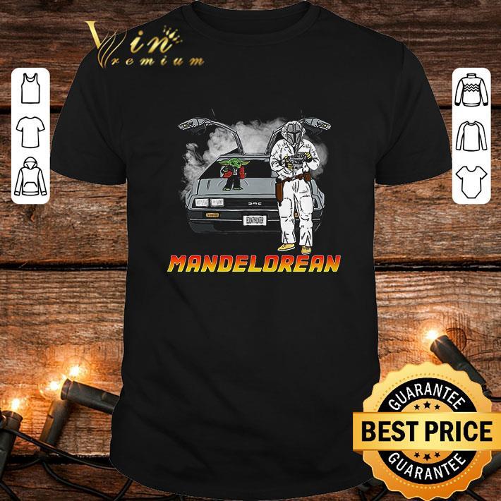 - The Mandalorian and Baby Yoda Mandelorean DMC DeLorean shirt