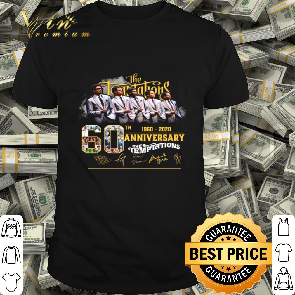 The Temptations 60th 1960-2020 anniversary signature shirt