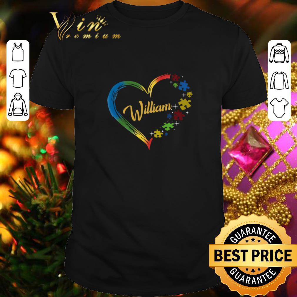 - William Autism awareness puzzle heart shirt