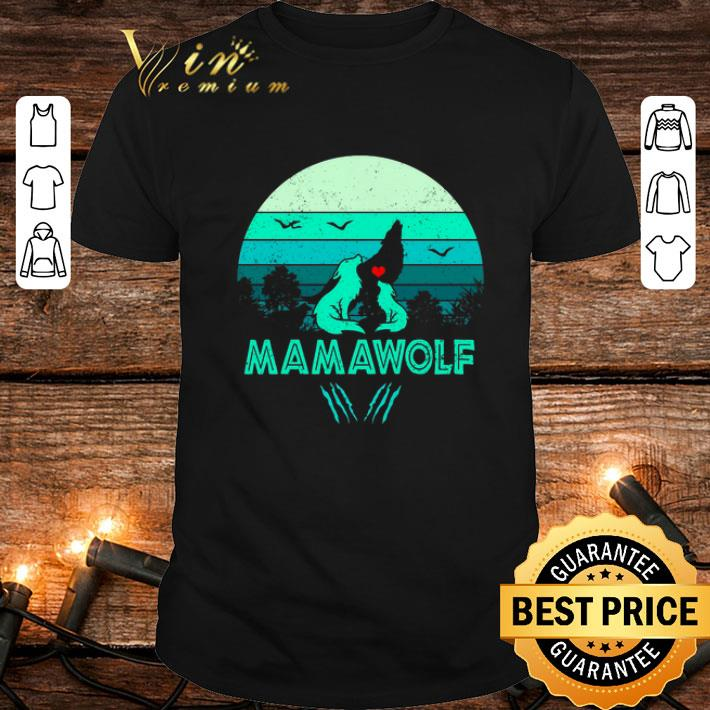 - Wolves love mamawolf vintage mother day shirt