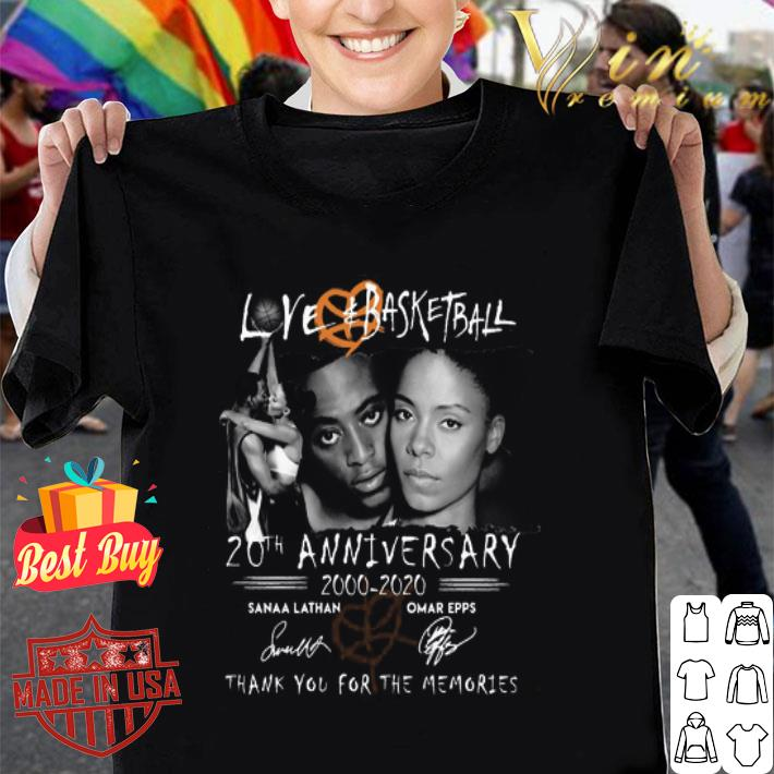 Love and Basketball 20th anniversary thank you for the memories shirt