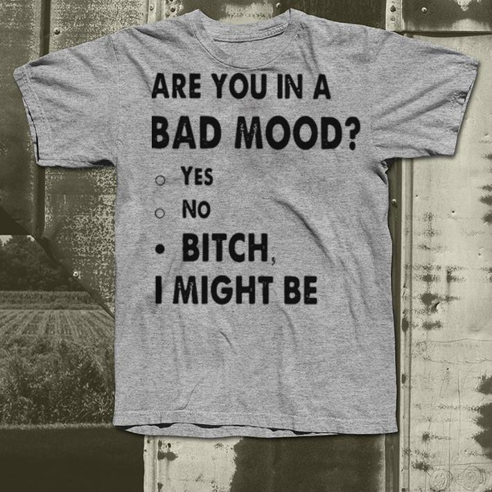 Are you in a bad mood yes no bitch I might be shirt 4 - Are you in a bad mood yes no bitch I might be shirt