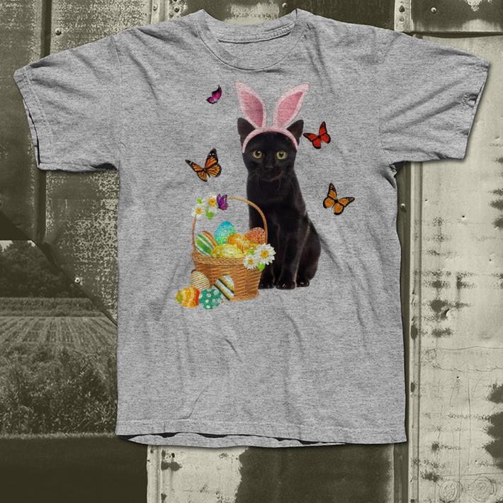 Black Cat Bunny Hat Rabbit Easter Eggs shirt 4 - Black Cat Bunny Hat Rabbit Easter Eggs shirt