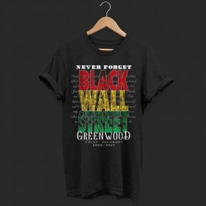 Black Wall Street Greenwood Tulsa Black History shirt