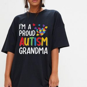 I'm A Proud Autism Grandma Autism Awareness shirt 2