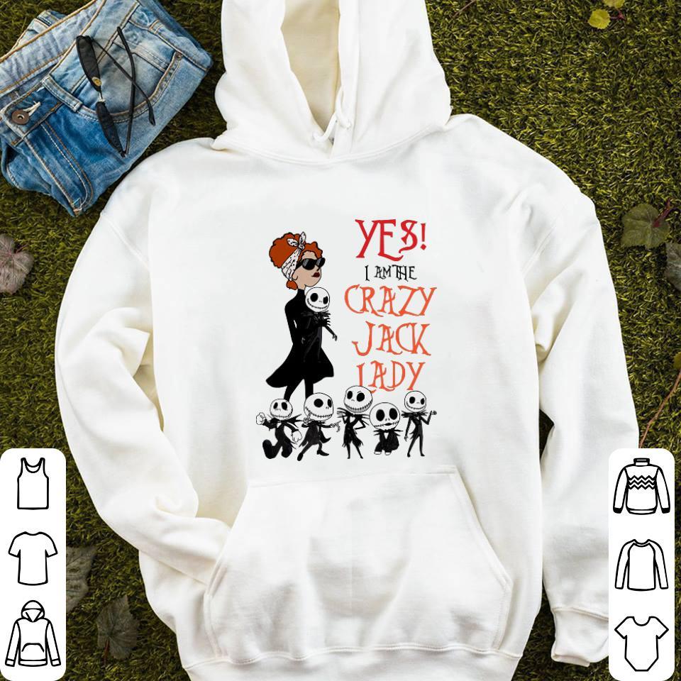 Jack Skellington yes i am the crazy Jack lady shirt 4 - Jack Skellington yes i am the crazy Jack lady shirt