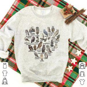 Love owls eastern screech barred barn snowy oriental scops eagle shirt