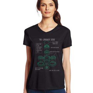 Fidget Tri Spinner 3000 Schematic shirt 2
