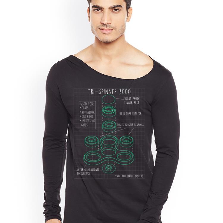 Fidget Tri Spinner 3000 Schematic shirt 4 - Fidget Tri Spinner 3000 Schematic shirt
