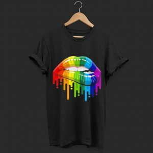 Homosexual Lesbian Rainbow Lips shirt