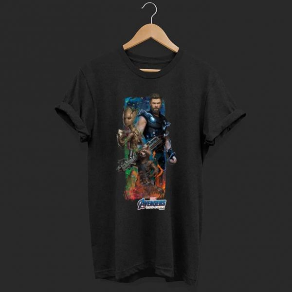 Marvel Avengers Endgame Thor, Groot and Rocket Racoon shirt