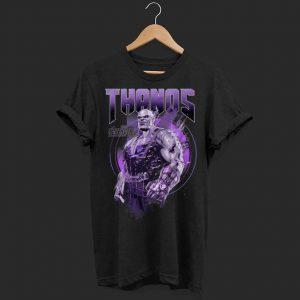 Marvel Infinity War Thanos Purple Distressed shirt