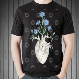 Fathers Day  Floral Heart Human Anatomy Cornflower Flower shirt