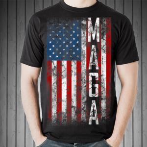 Grunge MAGA American Flag shirt
