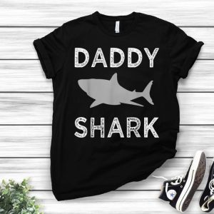 Daddy Shark Fathers Day Idea For Dad shirt