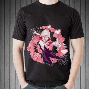 Marvel Spider Man Into the Spider Verse Gwen Stacy Hearts shirt