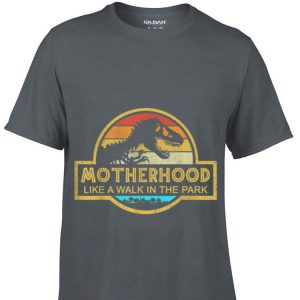 Motherhood Like A Walk In The Park Mother day Retro Sunset shirt