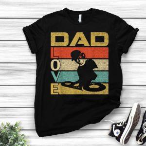 Retro Vintage Dad Love DJ Deejay Fathers Day shirt