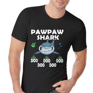 pawpaw Shark Fathers Day from Wife son Daughter shirt