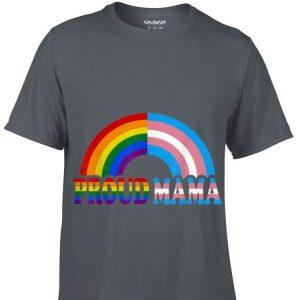 proud mama flag Rainbow LGBT Transgender pride month shirt
