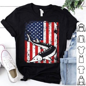 4th Of July American Flag Sturgeon Fishing Dad Grandpa shirt