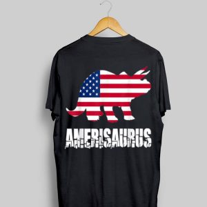 4th Of July Amerisaurus Dinosaur American Flag shirt