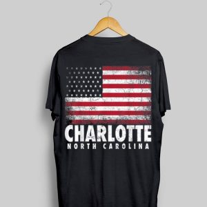 4th Of July Charlotte North Carolina Nc American Flag Usa shirt