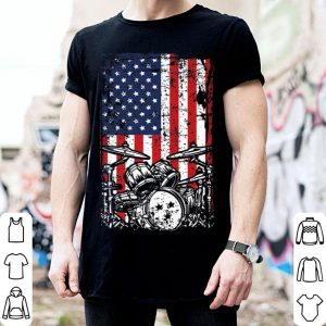 4th of July American Flag Drumming Father Day shirt