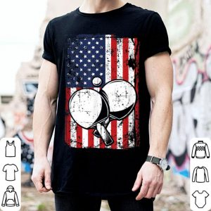 4th of July American Flag Ping Pong Paddle shirt