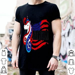 American Flag Americorn Unicorn 4th Of July shirt