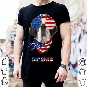 American Flag Saint Bernard Dog Lover shirt