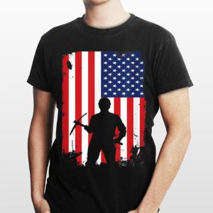 American Flag Vintage Geologist Fourth of July Gift shirt