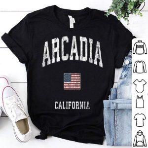 Arcadia California Ca Vintage American Flagports shirt