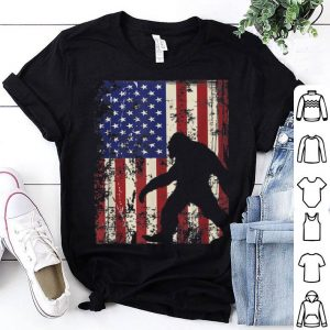 Bigfoot American Flag I 4th Of July Patriotic American Flag shirt