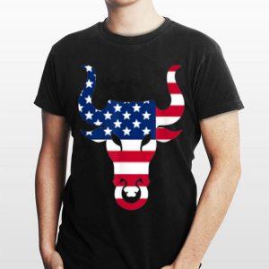 Brahma Bull Head American Flag Graphic Usa shirt