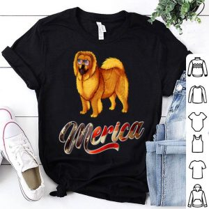 Chow Chow Breed Dog America Flag Patriot shirt