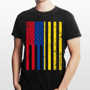 Colombia American Flag For New Us Citizen shirt