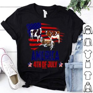 Cow Patriotic American America 4th Of July shirt