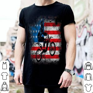 Dirt Bike American Flag 4th of july shirt