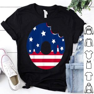 Donut American Flag Patriotic 4th Of July shirt