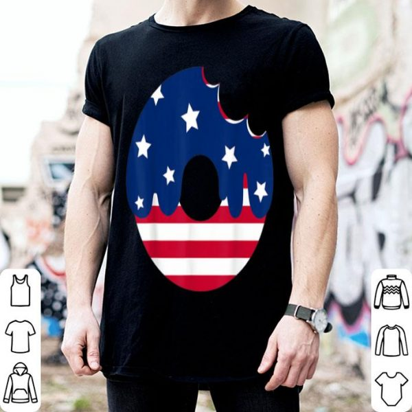 Donut American Flag Patriotic 4th Of July shirt